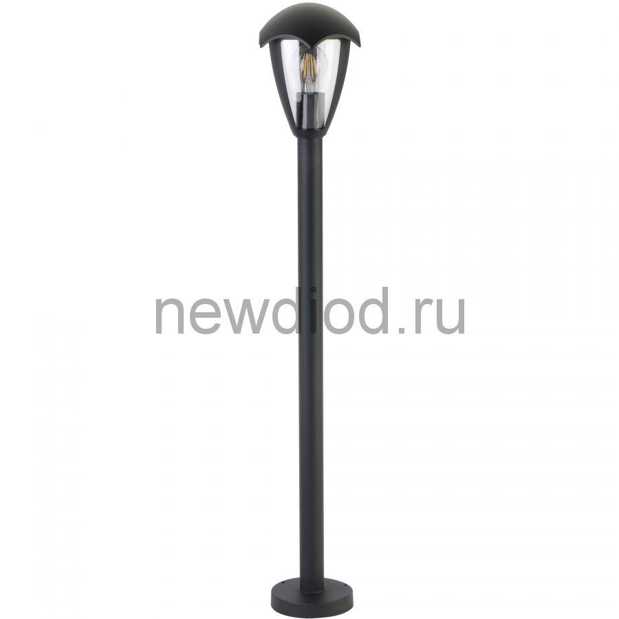Светильник уличный UUL-T80A 60W/E27 IP54 BLACK под лампу Е27 архитект напольный корпус серый Uniel