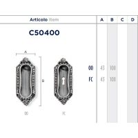 Ручка Enrico Cassina C50400 FC для раздвижных дверей схема