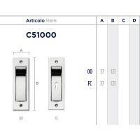 Ручка Enrico Cassina C51000 для раздвижных дверей схема