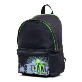 "Рюкзак с капюшоном ""Best team"", 37х29х15 см Hatber, цвет черный, зеленый"
