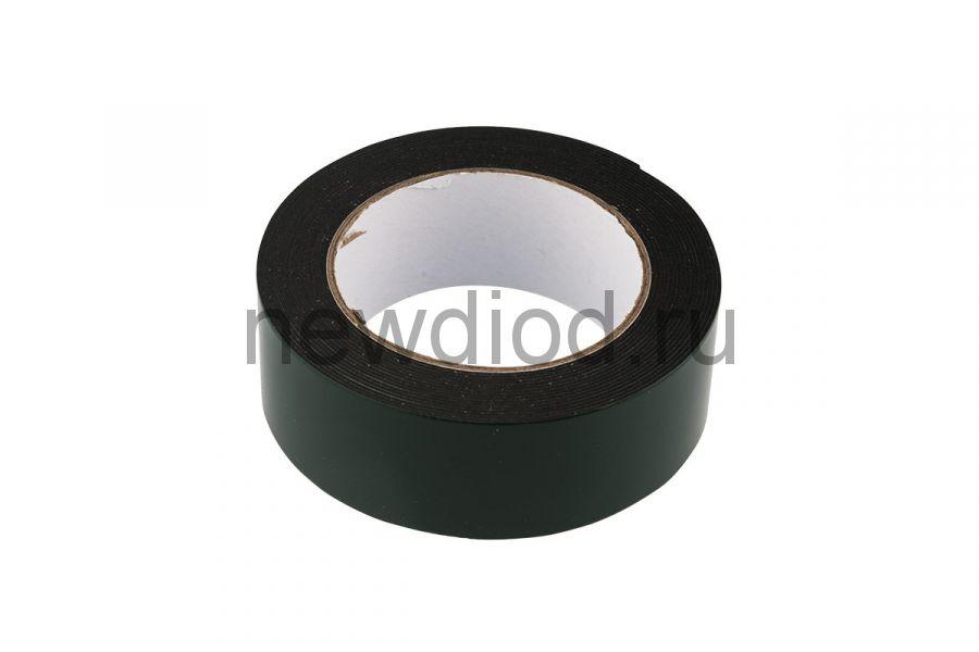 Двухсторонний скотч, черная вспененная ЭВА основа 40 мм, ( ролик 5 м)  REXANT