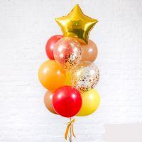 Фонтан из шаров 10 шаров  осенний