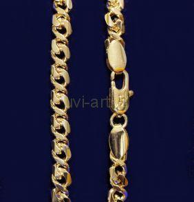 Позолоченная цепочка с эффектом алмазной гравировки, 4 мм (арт. 250175)