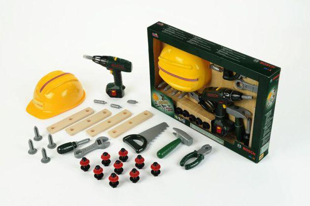 Набор инструментов с  каской и шуруповертом BOSCH Klein 8418