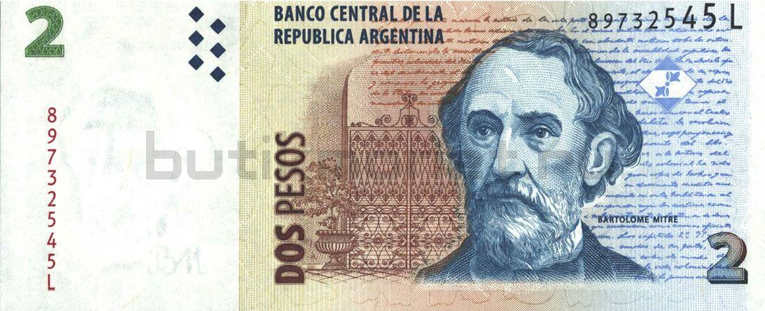 2 песо 2002 Аргентина