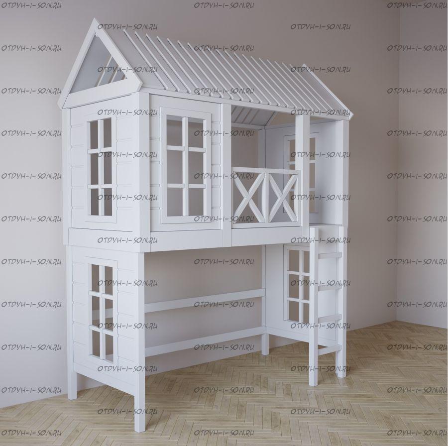 Кровать-чердак Домик Fairy Land Felicia №1F (любые размеры)