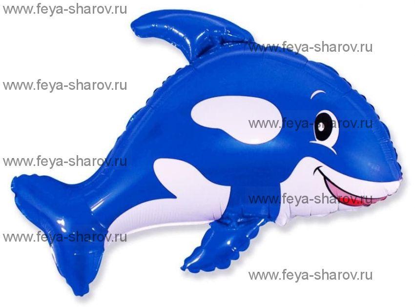 Шар Касатка синяя 80х90 см