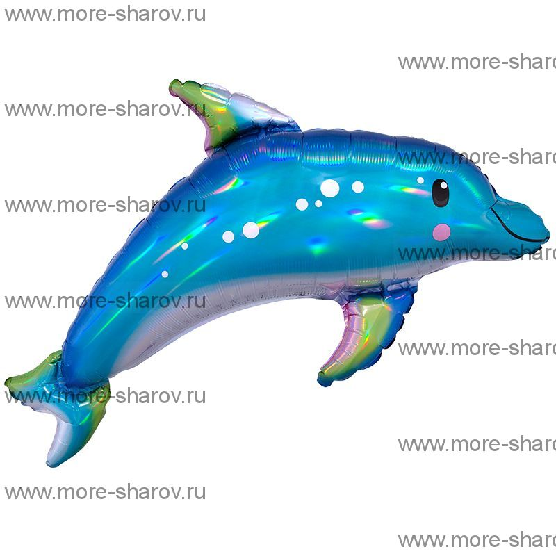 Шар Дельфин Переливы 73х68 см