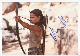 Автограф: Алисия Викандер. Tomb Raider: Лара Крофт
