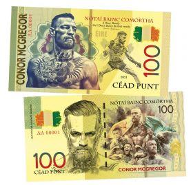 100 punt (фунтов) — Конор Макгрегор. Ирландия. (Conor Mcgregor. Ireland). Памятная банкнота. UNC