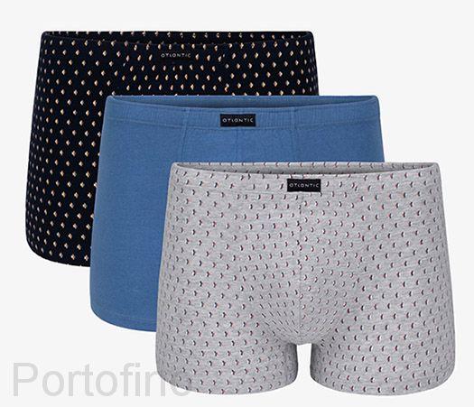 3MH-016 Трусы мужские шорты Small graphic - набор 3 штуки