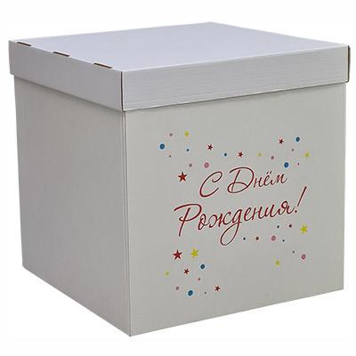 Коробка для надутых шариков День Рождения