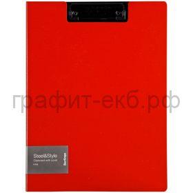 Папка-доска А4 Berlingo Steel&Style красная PPf_93003