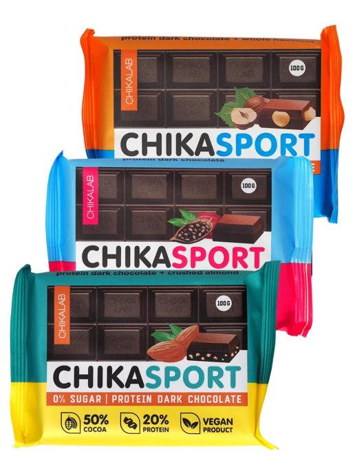 Chikalab Протеиновый тёмный шоколад
