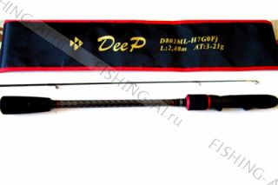 Спиннинг Сезон Рыбалки DEEP D862M-H7G0Fj 2.59 м. 4-28 г.