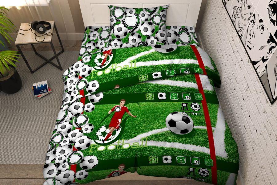 Бязь 1.5 спальный [зеленый] Твой стиль 5294/1 Тинейджер постельное белье