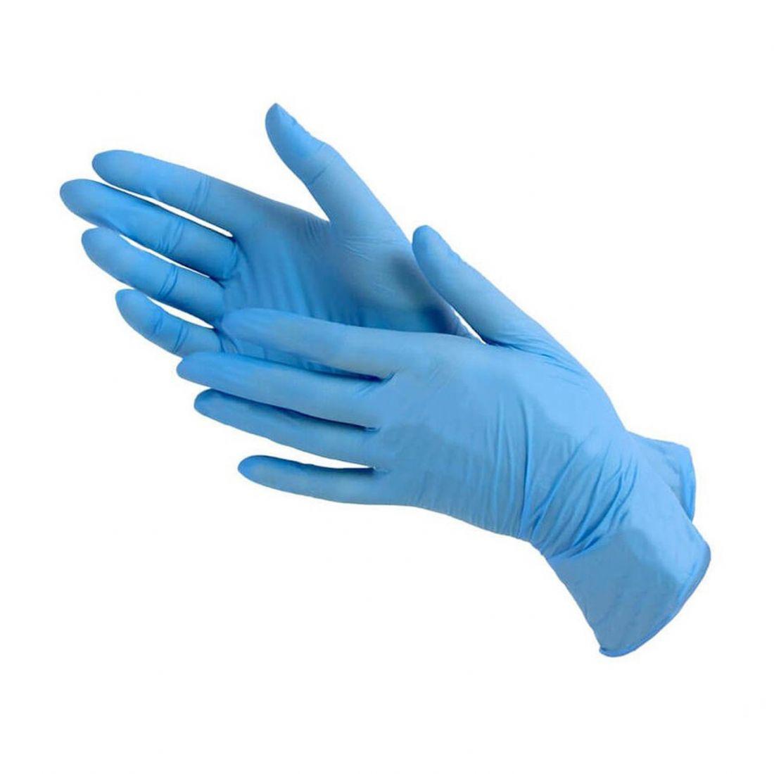 ПЕРЧАТКИ нитриловые голубые неопудренные, 50 пар, размер ХS