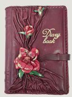 Ежедневник А5 «Цветущий сад» Бордовый