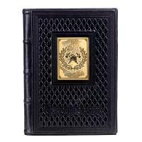 Ежедневник А5 «Пожарному-5» с накладкой покрытой золотом 999 пробы