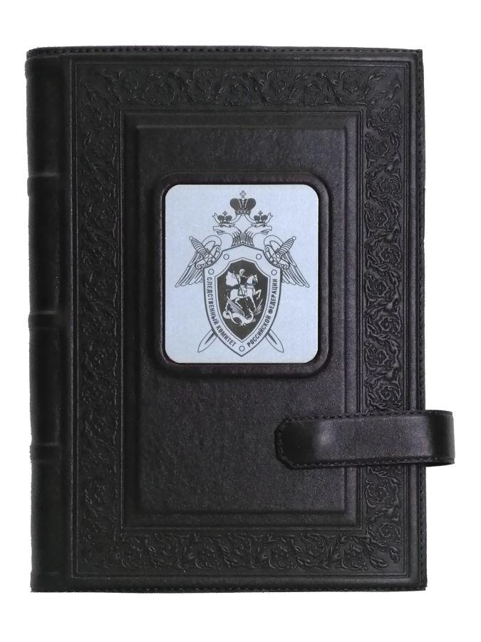 Ежедневник А5  «Герб следственного комитета» Чёрный