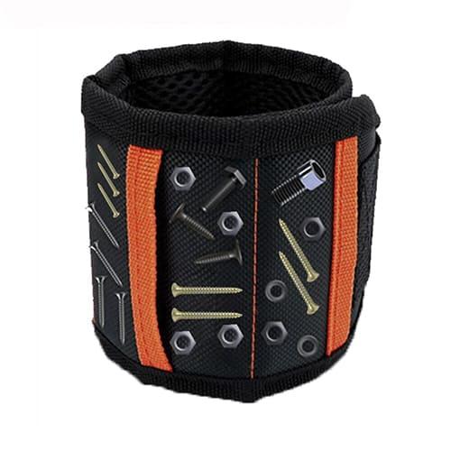 Строительный магнитный браслет Magnetic Wristband (5 магнитов), цвет чёрный.