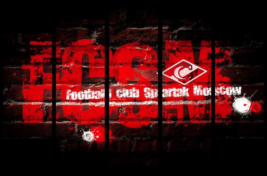 Модульная картина Спартак F.C.S.M