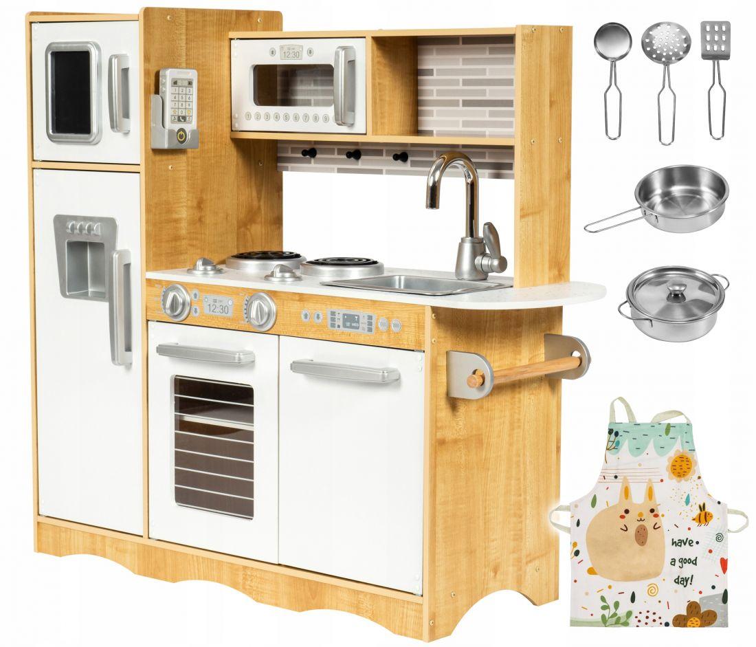 Деревянная кухня XXL ,со светодиодной подсветкой, фартуком и аксессуарами.