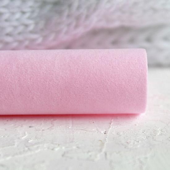 Замша для обуви искусственная двусторонняя - Нежно-розовые 30х21 см.