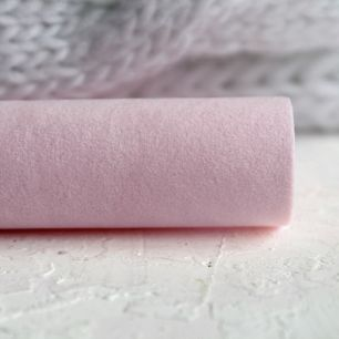 Замша для обуви искусственная двусторонняя - Пепельно-розовый 30х21 см.