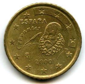 Испания 50 евроцентов 2000
