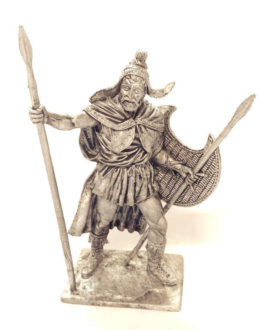 Фигурка Фракийский пельтаст, 5 век до н.э. олово