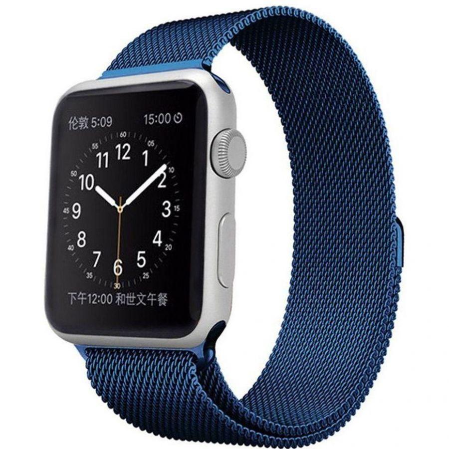 Ремешок миланская петля для часов Apple Watch 42/44mm Синий