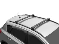 Багажник на крышу Kia Sportage 4, 2016-..., Lux Bridge, крыловидные дуги (черный цвет)
