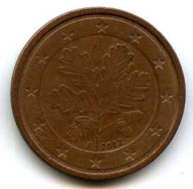 Германия 2 евроцента 2002 F