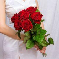 Красные розы 7 шт