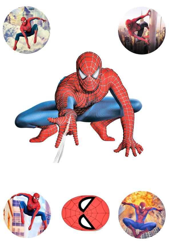 Вафельная картинка Чел паук  (12)