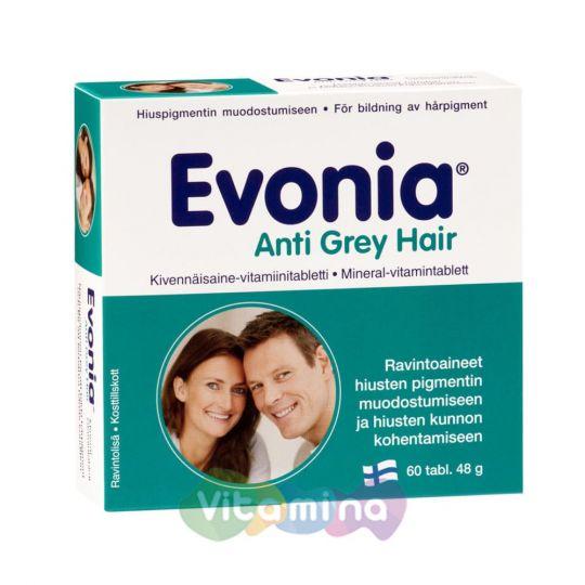 Evonia Anti Grey Hair (Эвония) Витамины против поседения, 60 табл.