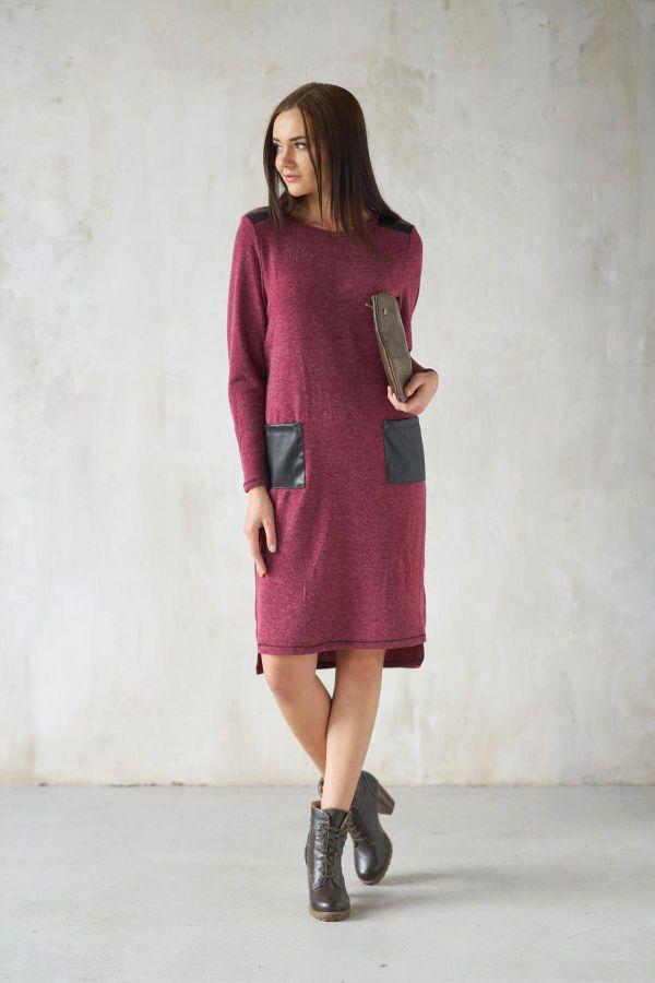 Платье арт.0171-12 бордо, ангора