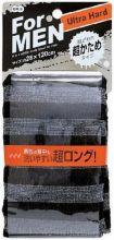 Массажная мочалка сверхжёсткая 28 х 120 см чёрная в полоску