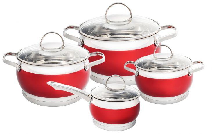 Набор посуды 3 кастрюли + ковш  HM 5858