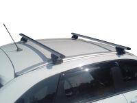 Багажник на интегрированные рейлинги Lada Xray / Lada Xray Cross, Евродеталь, аэродинамические дуги