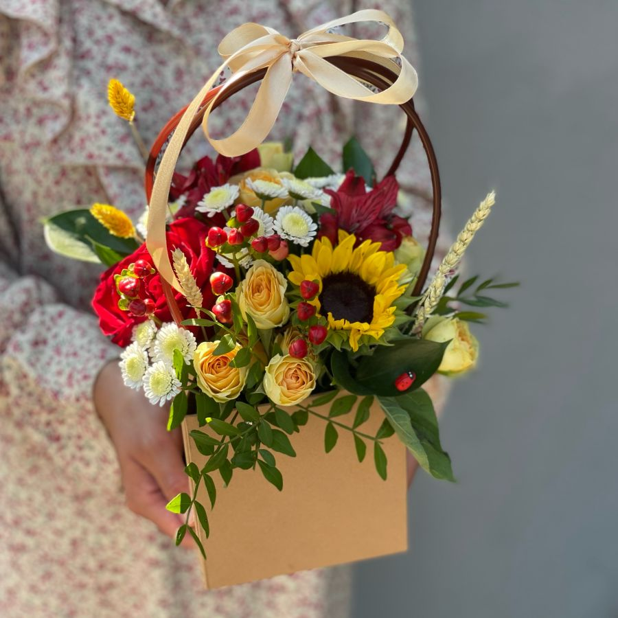 Цветочная сумочка №1