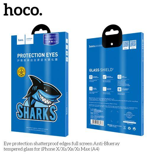Защитное стекло HOCO Eye protection Anti-Blue для iPhoneXS Max(A4), черное