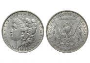 США 1 доллар 1882 года (2354)  СЕРЕБРО