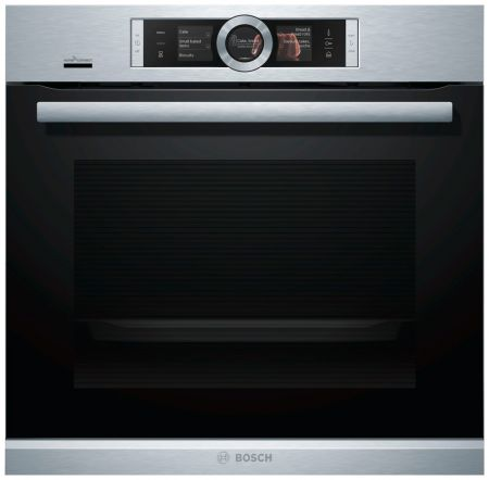 Духовой шкаф с AddedSteam Bosch HRG636XS6 Home Connect