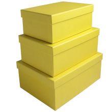 Набор коробок 3 в 1, жёлтый