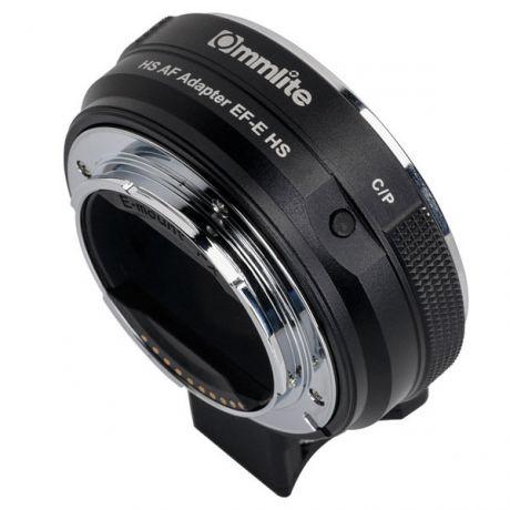 Адаптер Commlite CM-EF-E HS с оптики Canon EF/EF-S на байонет Sony E-mount с автофокусом