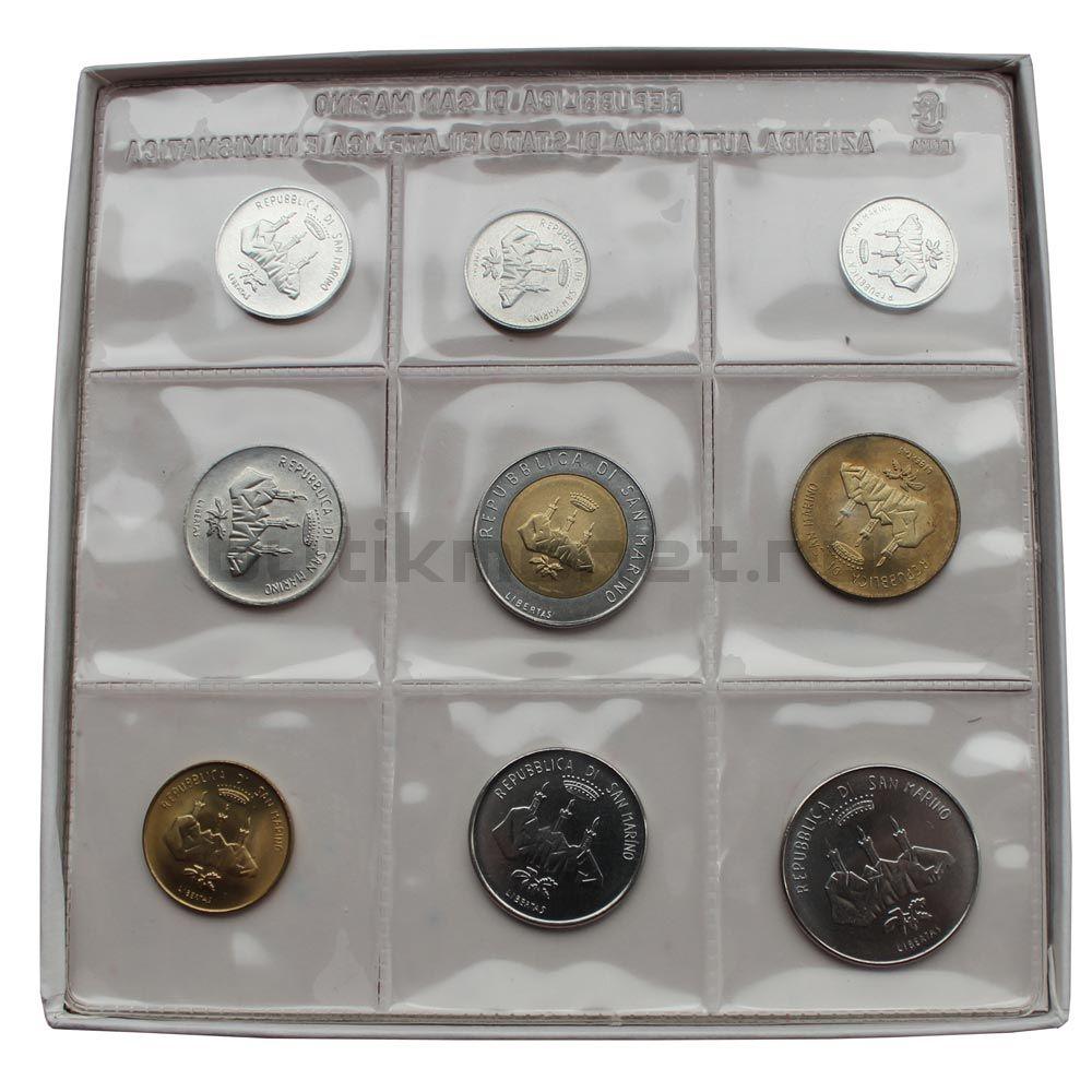 Годовой набор монет 1986 Сан-Марино Эволюция технологий (9 штук)