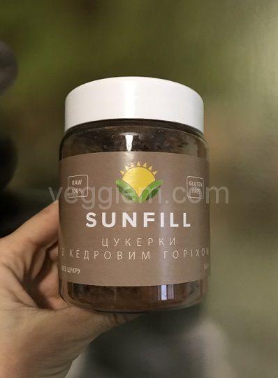 Сыроедческие Конфеты с кедровым орехом, Sunfill (160 грамм)