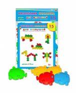 Напольная мозаика для малышей в пакете (15 деталей) (арт. М-7551)